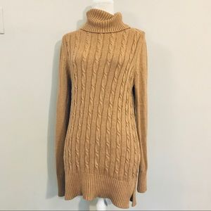 Loft Turtleneck Cable Knit Sweater